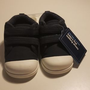 Baby Gap  First walking shoes navy blue size 5